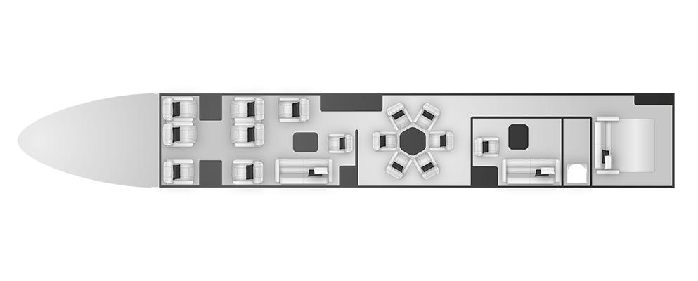 A319 Corporate Jet (ACJ) cabine