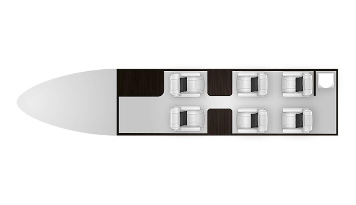 Citation CJ4 cabine