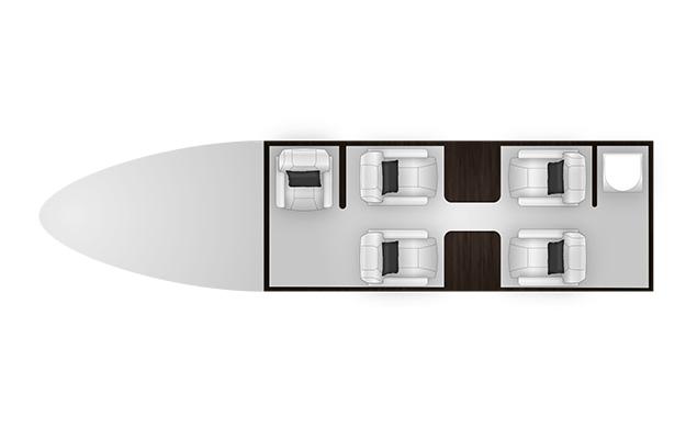 Citation M2 cabine