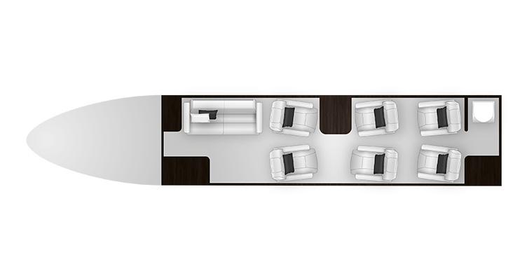 Citation XLS+ cabine