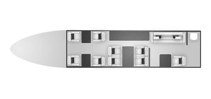 Global 5000 cabine