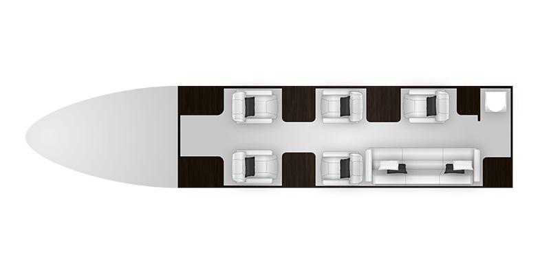 Hawker 900 XP cabine