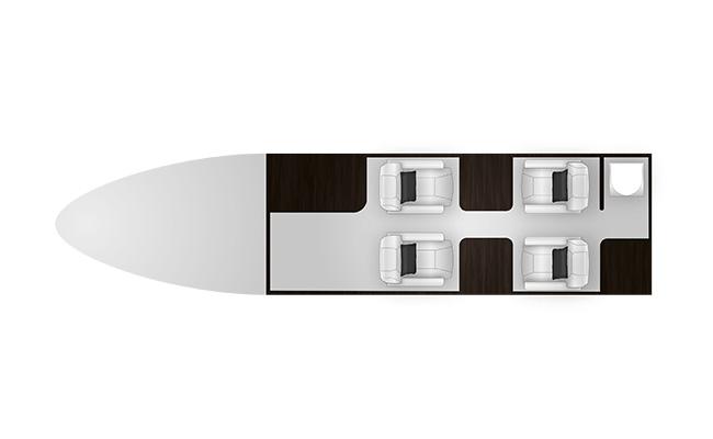 Phenom 100 cabine