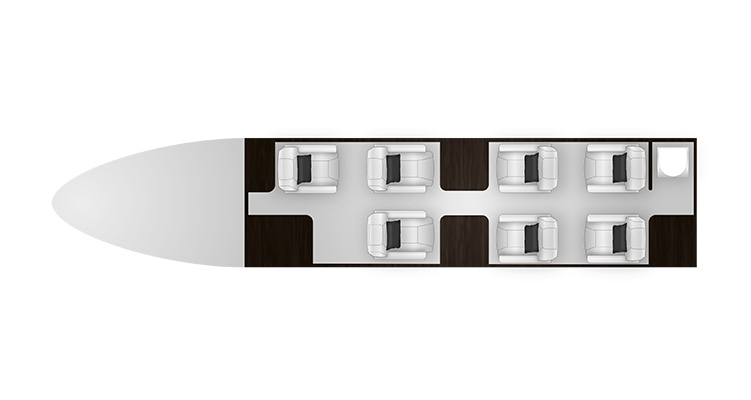 Phenom 300 cabine